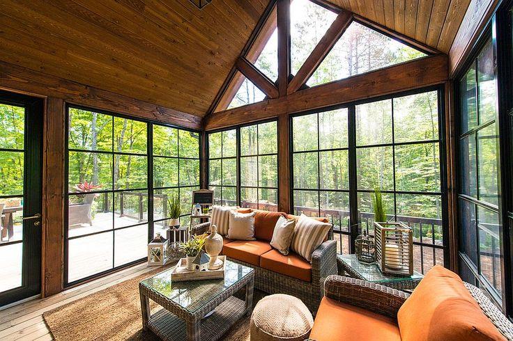 Best 25 rustic sunroom ideas on pinterest rustic barn for Rustic sunrooms