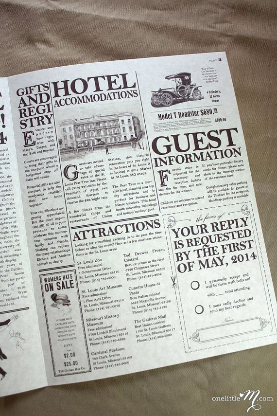 The Daily Proposal Vintage Newspaper Wedding by onelittlem