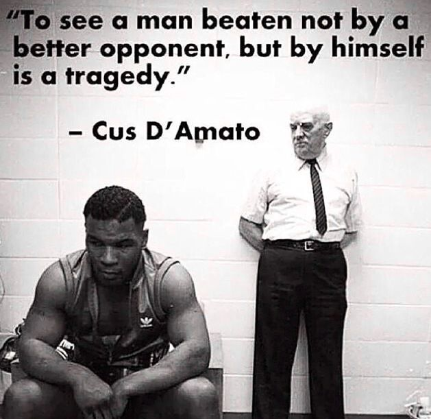 To see a man beaten not by a better opponent, but by himself is a tragedy.