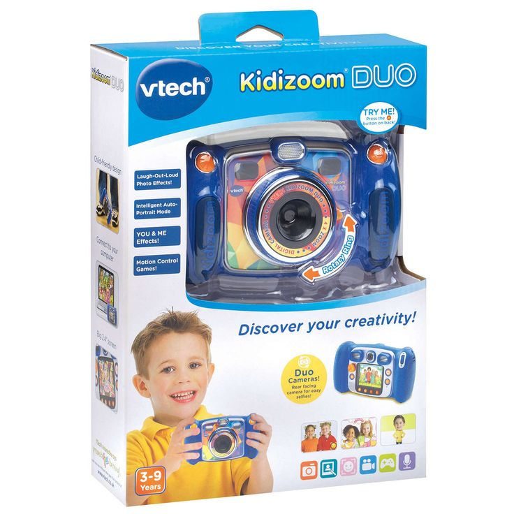 BuyJohn Lewis Exclusive VTech Kidizoom Duo Digital Camera With 4GB SD Card, Blue Online at johnlewis.com