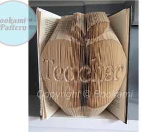 Apple For The Teacher Book Folding/Bookfolding Pattern' (823 Pages/412 Folds) + Free Tutorial!