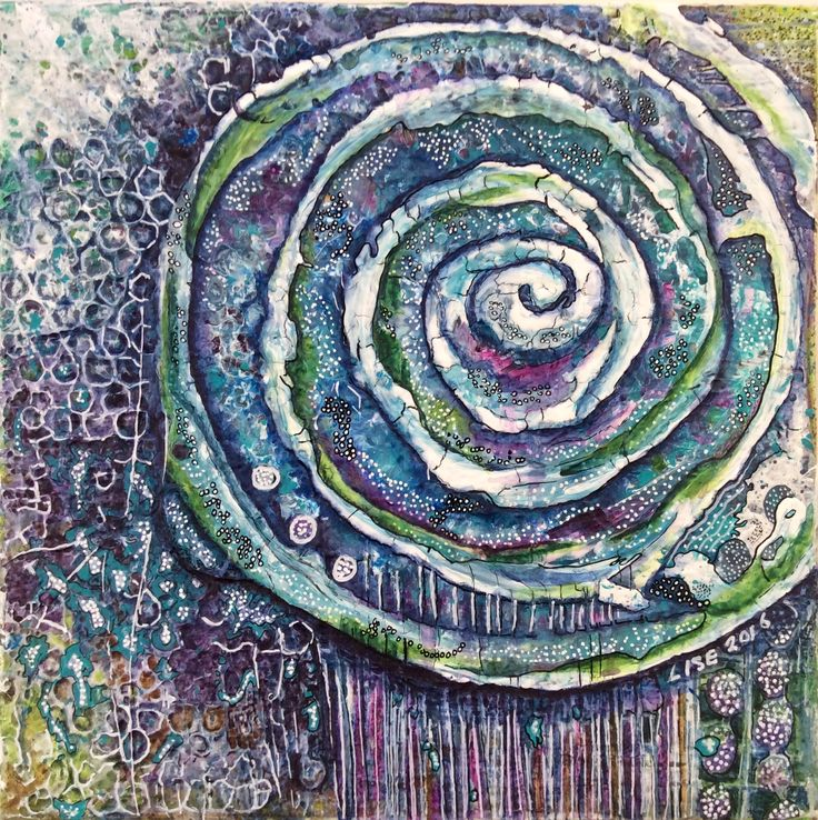 """""""Entice"""" by Lise Holt. Mixed media on canvas"""