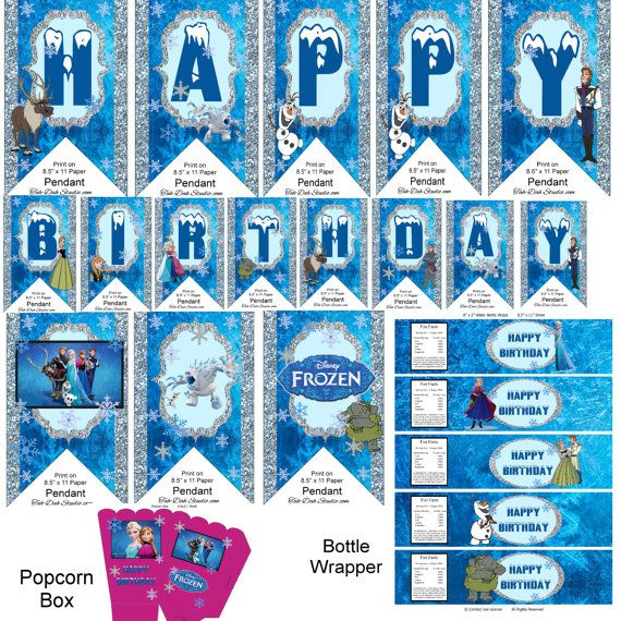 Frozen Birthday Banner Printable Frozen Banner Party By: 273 Best Images About Kids Party Ideas On Pinterest