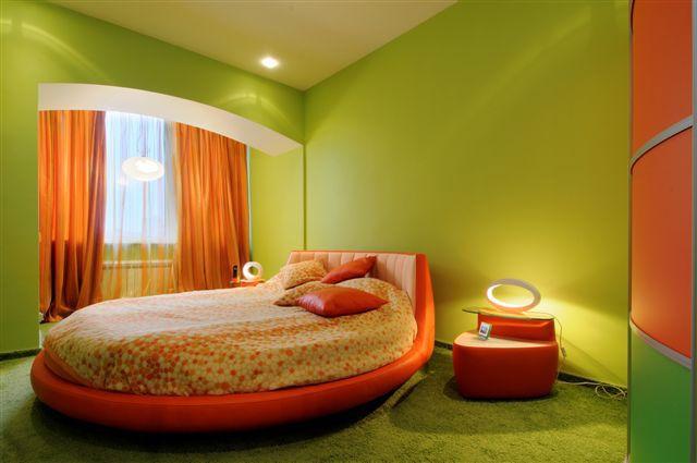 Green and orange bedroom   GreenOrange Home in 2019   Bedroom orange ...