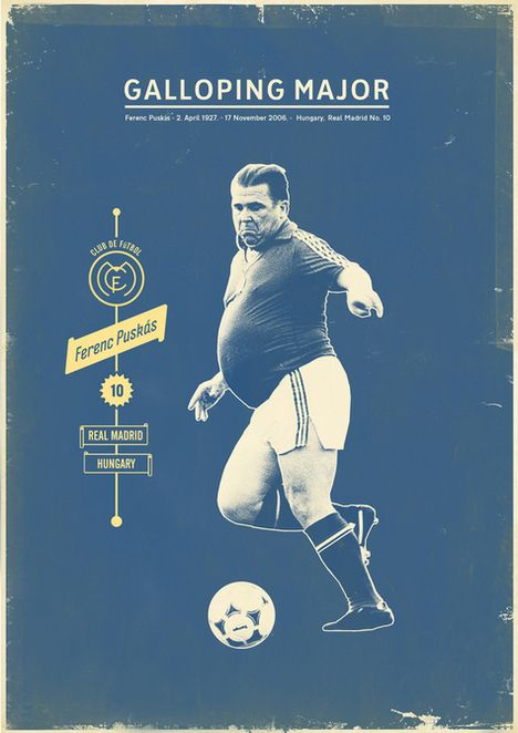 Cartazes vintage de jogadores de futebol   Criatives   Blog Design, Inspirações, Tutoriais, Web Design