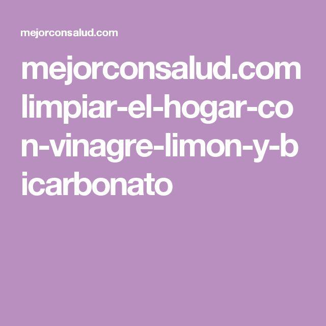 mejorconsalud.com limpiar-el-hogar-con-vinagre-limon-y-bicarbonato