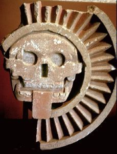 TEOTIHUACAN Anonymous (Early Classic c. 1 - 600) - Mictlantecuhtli (God of Death) - Stone