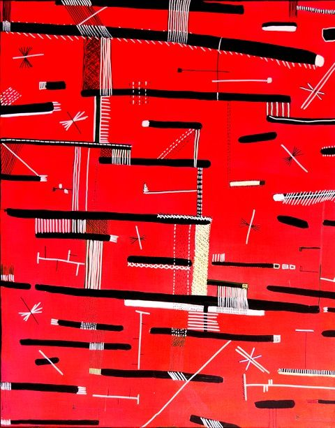 Karina Koziej, Red, acrylic on canvas, modern art, abstract art, color painting, young art, polish art