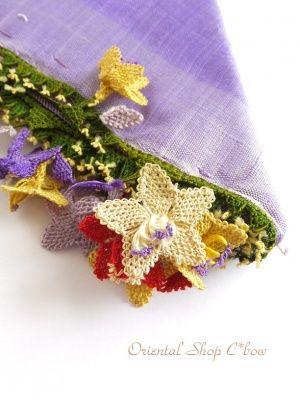 画像3: アイドゥン|アンティークオヤスカーフ|シルク糸|カラフル