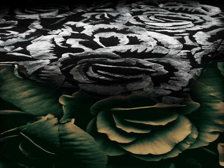 anjoy the darck flower rugs .#handmaderugs