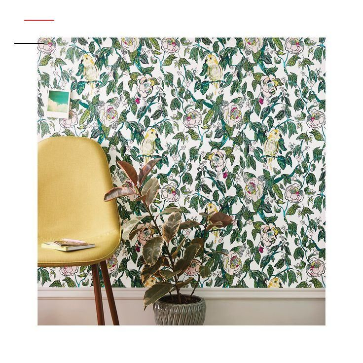 Canary Floral Peel Stick Removable Wallpaper Opalhouse Br Transform Your Living Space Into Something Bold And Live Tapeten Entfernen Akzentwand Ideen Idee