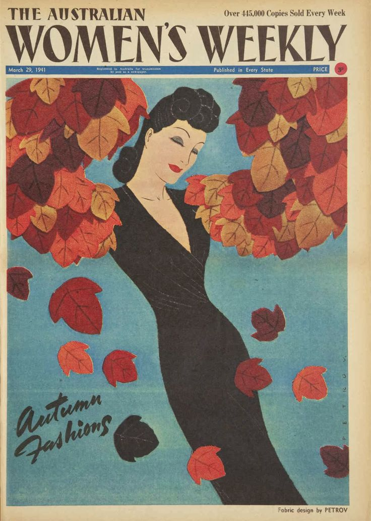 Australian Women's Weekly: Fabric cover by Petrov March 29, 1941