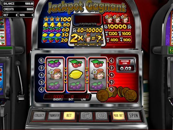 Play Jackpot Gagnant, a 3-Reel Slot Machine @ Sweet Bet