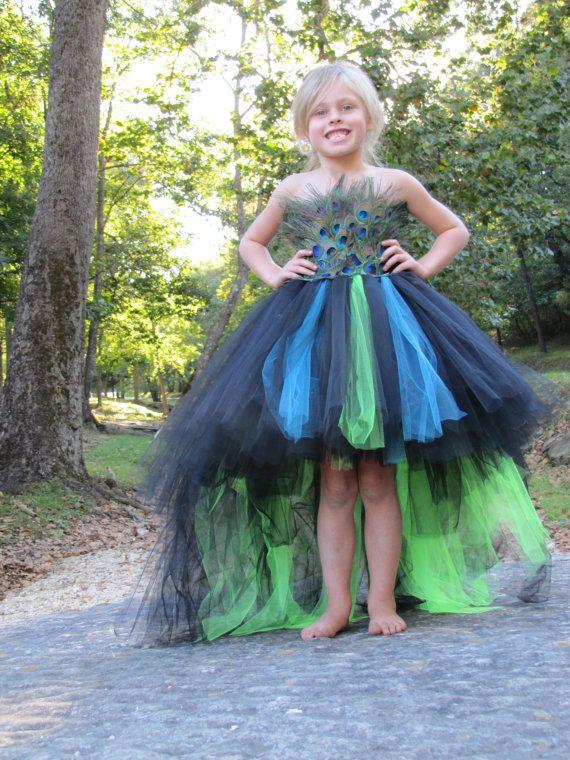 Pfau Kostüm Feder-Kleid Tutu Kleid von TheCreatorsTouch auf Etsy
