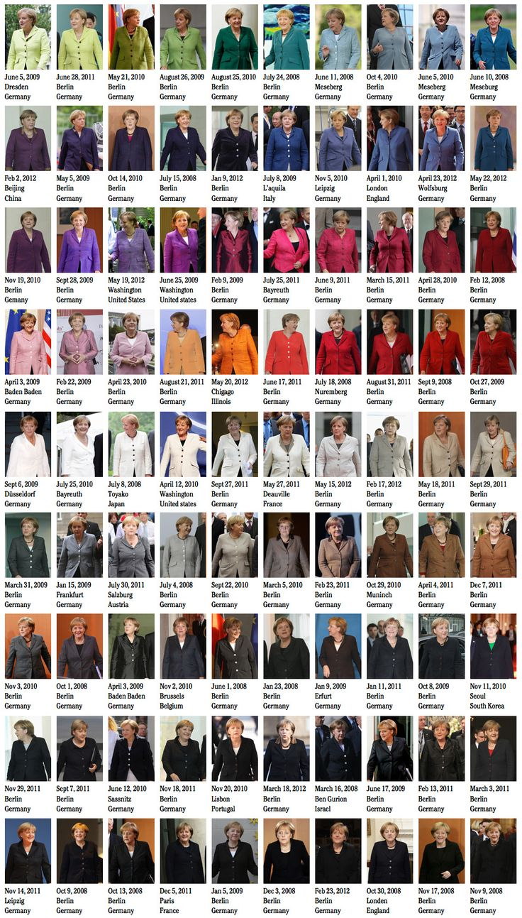 50 Shades Of Angela Merkel, by Noortje van Eekelen  http://www.noortjevaneekelen.nl/projects/the-spectacle-of-the-tragedy/