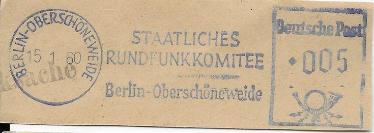 BerlinOberschoneweide Staatliches Rundfunkkomitee