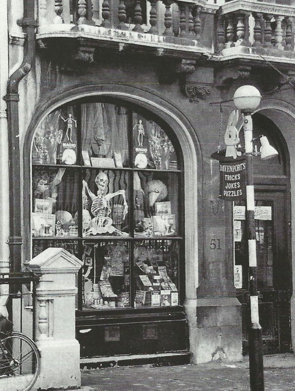 Secret London: Davenports Magic Shop  when I was a child in the 70's it was a great treat to visit this shop oposite the british museum-the man in there would play practical jokes,involving fake limbs etc. i would buy all sorts of tricks..and my father would have to put up with 'black face soap' and 'klondyke blizzard' (floating 'snow' that emerged from his cigarette smoke) as well as stink bombs and small explosions..I suspect his memories are not so fond.