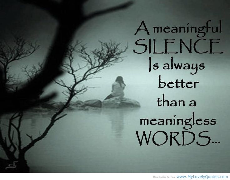 deep sad quotes meaningful silence awesome quote for
