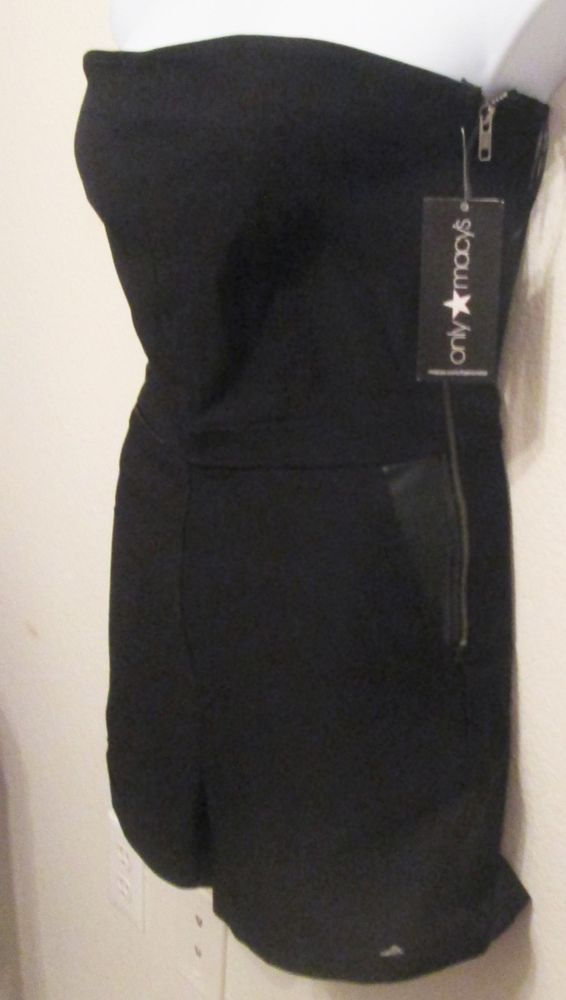 4fb25a8c70dc9 Black Jumper Shorts Suit Size 4 or 10 Cool and Sexy Only Macys Fashion Star  NWT