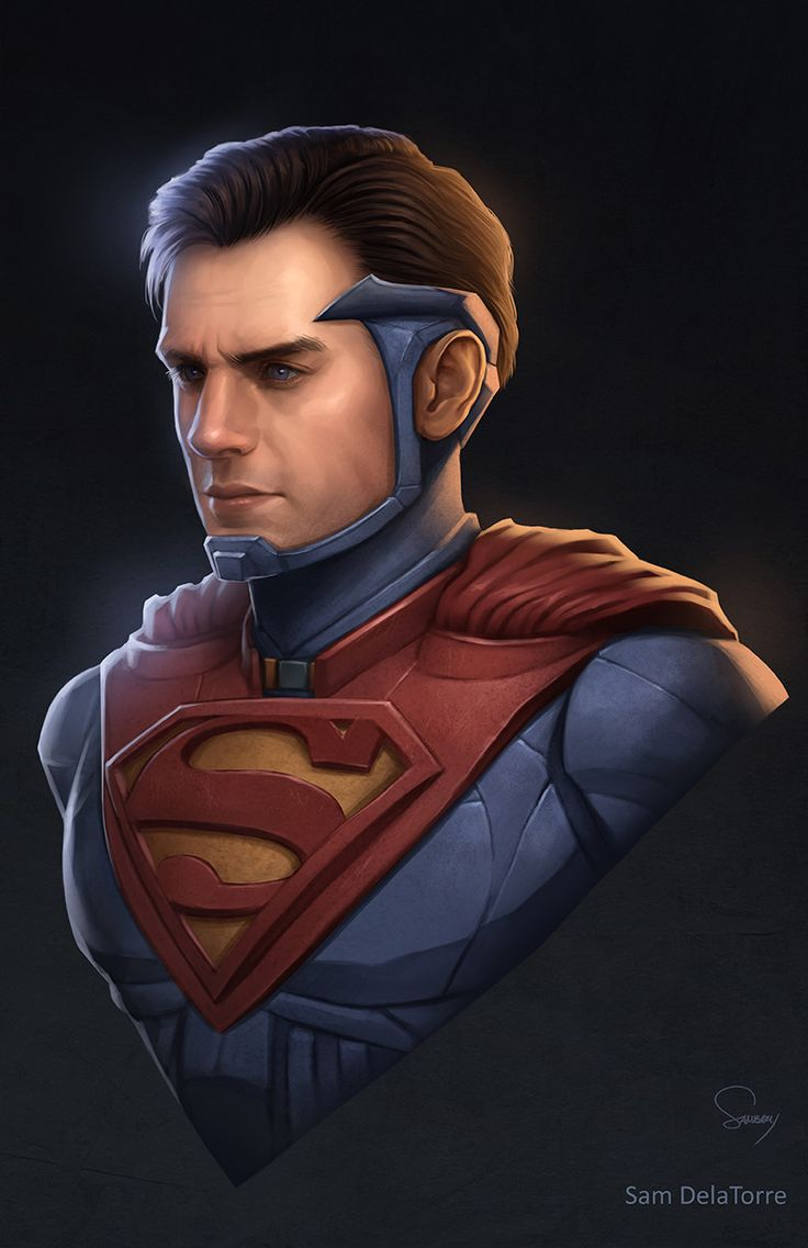 ArtStation - DC Trinity- Superman (Injustice 2), Sam DelaTorre