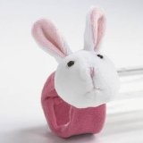 Pink Bunny Rabbit Doll Wrist Rattle by Lee Middleton Dolls