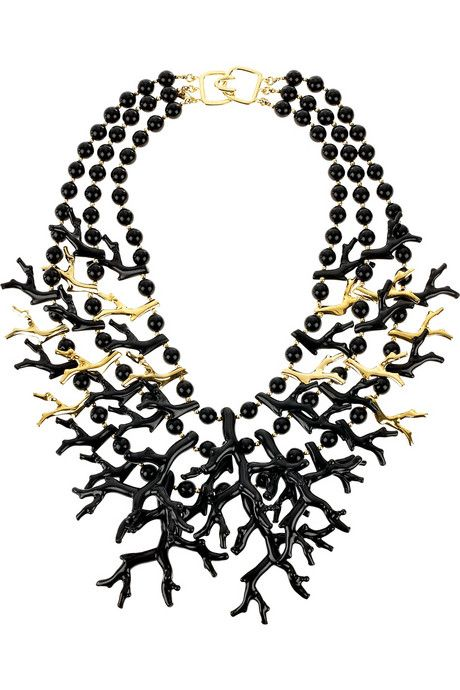 BALLAD OF THE BLACK SEA (Kenneth Jay Lane, Coral inspired # necklace)