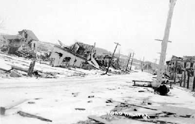 Halifax Explosion  Dec 6, 1917 - At Halifax, the French munitions ship Mont Blanc collided with the Belgian relief ship Imo. The resulting explosion, the largest before the advent of the atomic bomb, killed more than 1600 people and injured 9000 in Canada's worst disaster.