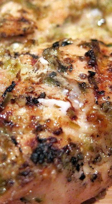 Jalapeno Lemon Grilled Chicken - chicken marinated in fresh jalapenos, lemon juice, oregano, olive oil and garlic.