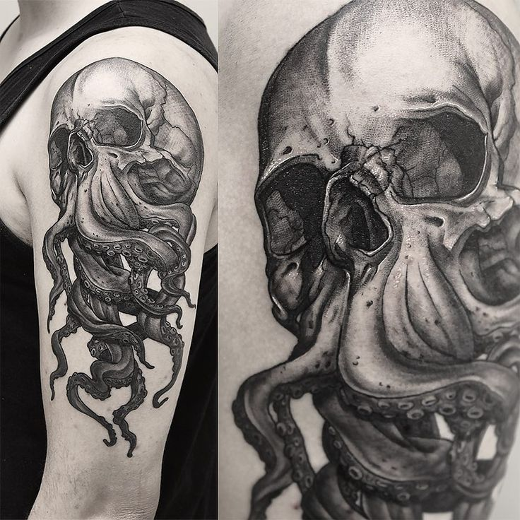 "Vincent Hachen (@vincentnh)""#skull #tattoo #inked #Tentacles via Apolonis Aphrodisia"