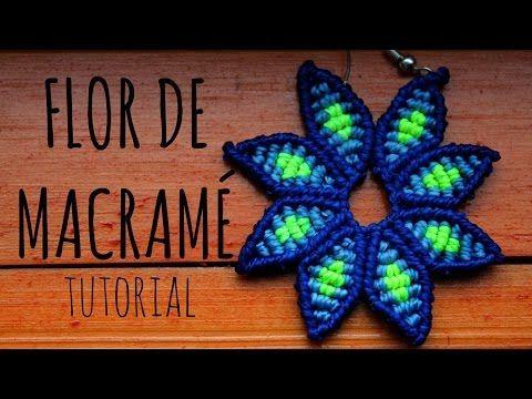 M Flor de macramé ✿ / Tutorial - YouTube