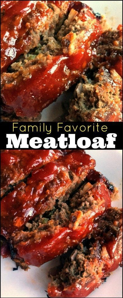 This Family Favorite Meatloaf is one of the top 10 all time most popular ground beef recipes on my website and one of our family's favorite recipes EVER!  The leftovers make the best meatloaf sandwich you ever put in your mouth....if there are any ;-)