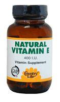 Country Life Vitamin E Complex (Softgel) 400 I.U. 180 Soft Gels