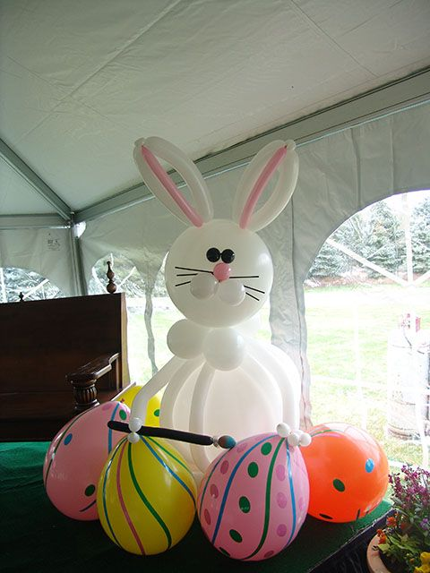 easter bunny balloon or just the eggs...