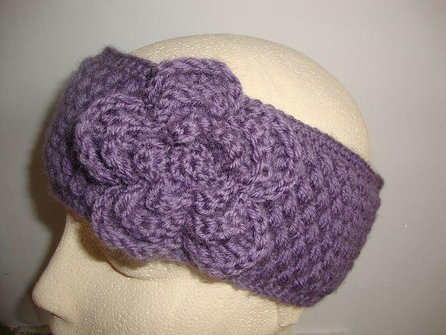 Free Crochet Headband Pattern With Flower Crochet Headband With