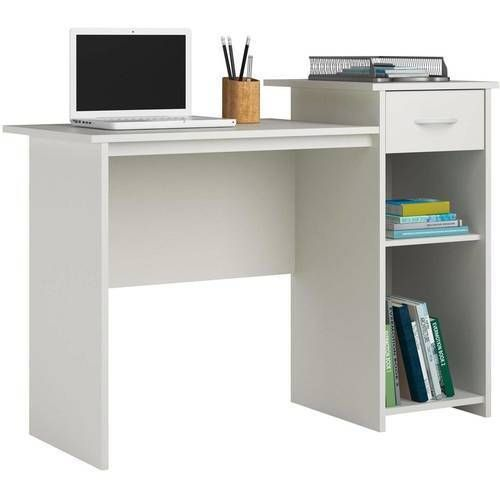 Office Student Desk Computer Workstation Home Furniture Modern Study New White #1