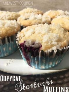 Copycat Starbucks Blueberry Muffins.  Strudel Topping -- Warm & Delicious    www.midwestcouponclippers.net