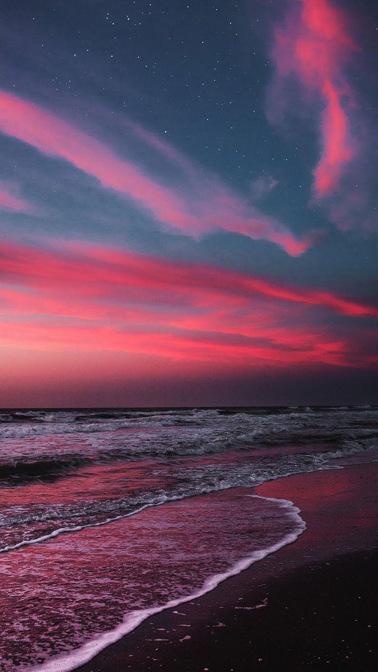 Beach In The Twilight Sunset Beach Iphone Sunset Twilight Beach Iphone Sunset Twilight In 2020 Scenery Wallpaper Sunset Wallpaper Sky Aesthetic