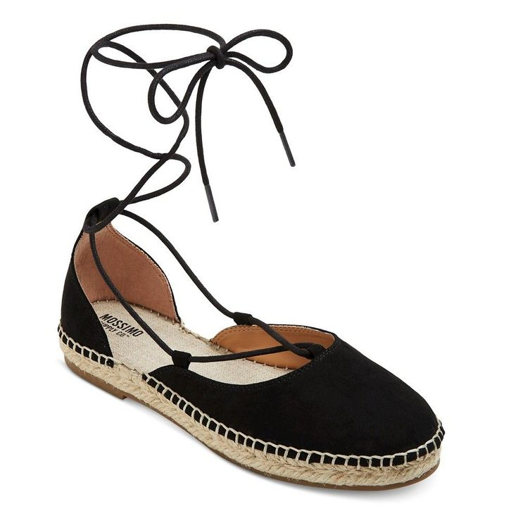 Women's Elinor d'Orsay Ghillie Lace Up Espadrille Ballet Flats Mossimo Supply Co. -