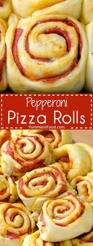 Pepperoni-Pizzabrötchen – so schön und einfach Pizza genießen! Diese Pepperoni P …
