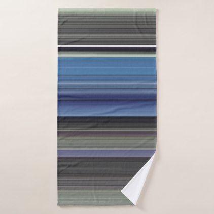 Abstract #1: Blue and grey Bath Towel - blue gifts style giftidea diy cyo