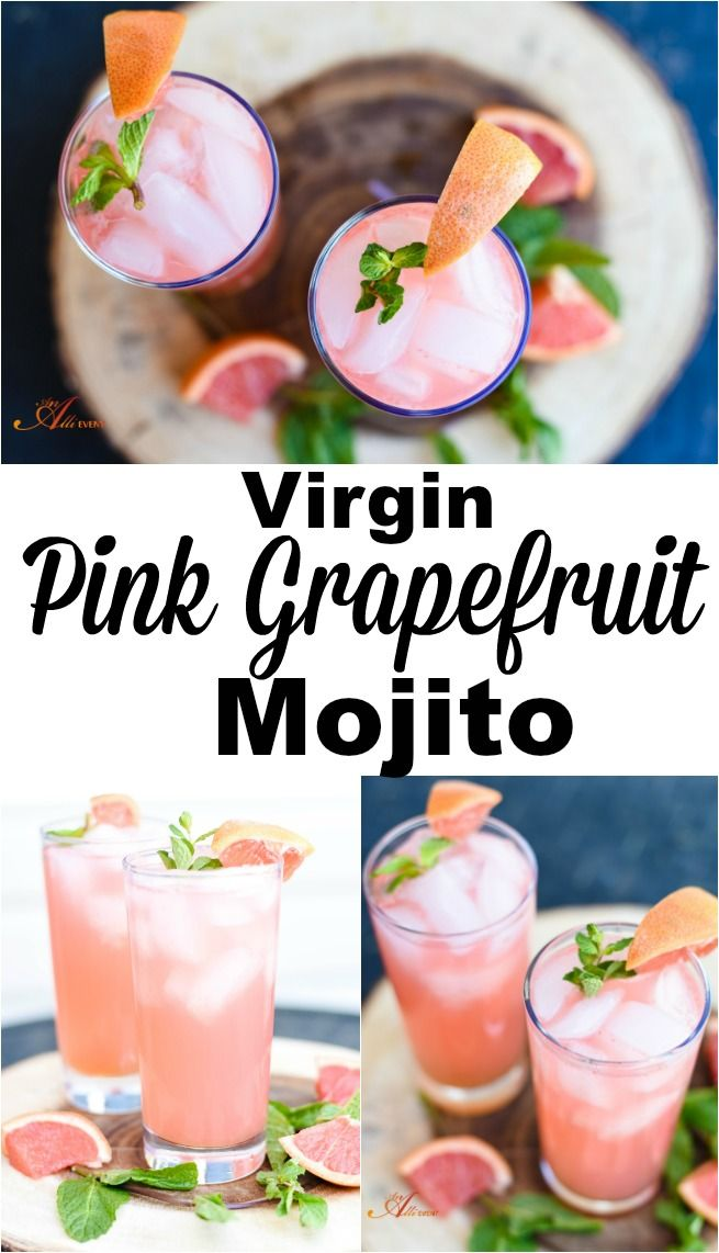 If you're a citrus lover, you have to try my Virgin Pink Grapefruit Mojito. It's refreshing and is the perfect drink for spring and summer.