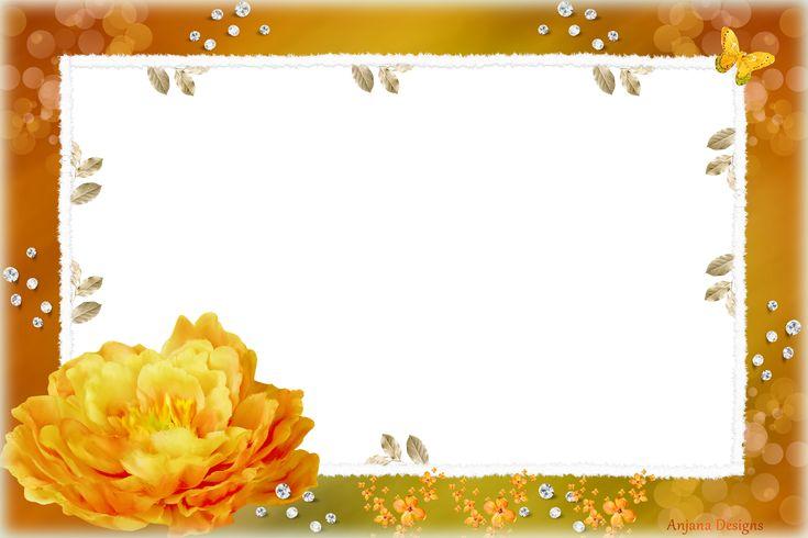 orange fram png   orange daydream frame by anjana @Anjana ... Corner Page Sun Clipart