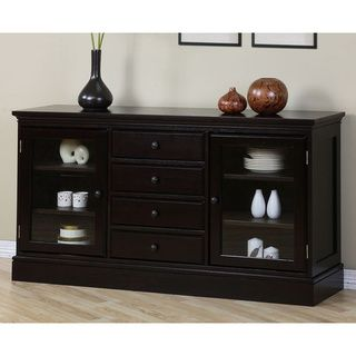 Shop For Espresso 4 Drawer Buffet Get Free Delivery At Your Online Furniture