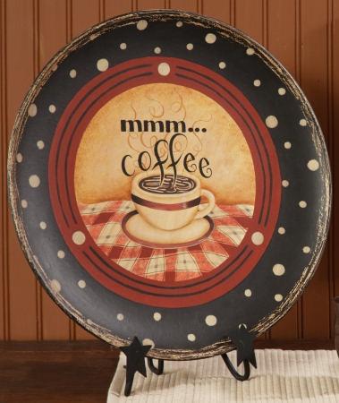 primitive BIG wood decor plate / Mmm COFFEE / nice & 19 best Mom\u0027s Kitchen images on Pinterest   Dining room walls ...
