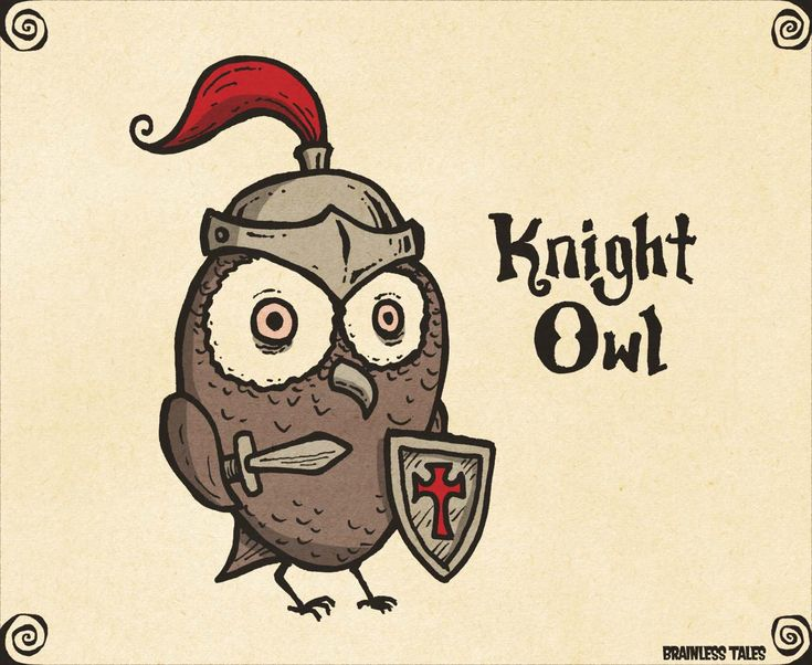 Knight Owl | Just For Pun: We Create Punny Illustrations To Make You Smile