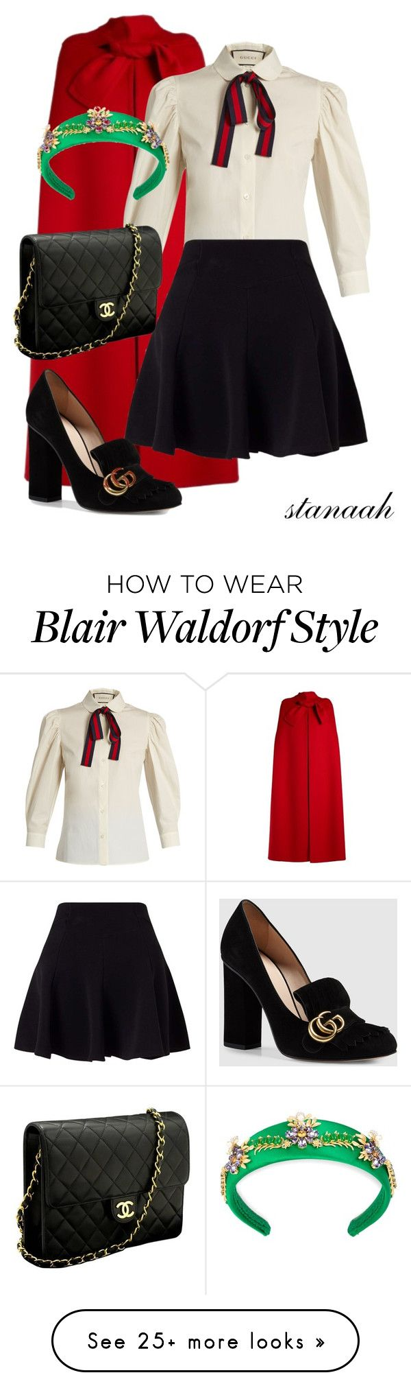 """""""blair waldorf inspired"""" by s-arsenic on Polyvore featuring Valentino, Gucci, Miss Selfridge, Dolce&Gabbana and Chanel"""