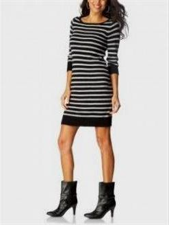 Awesome striped sweater dresses for women 2018/2019