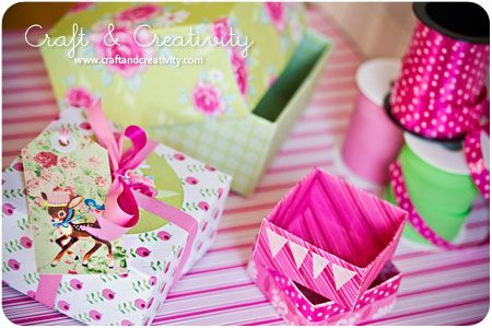 DIY Tutorial paper boxes