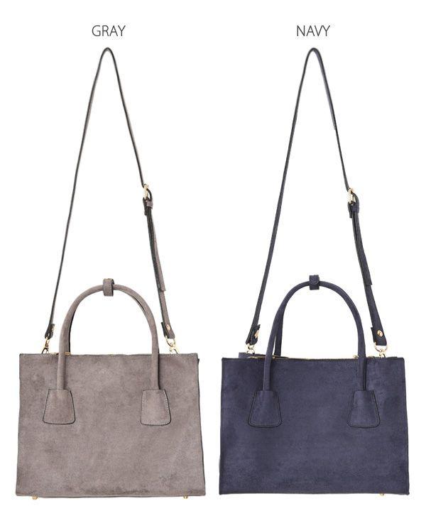 【予約販売】エコスエードハンドトートバッグ バッグ   おしゃれな大人レディースファッション通販STYLE DELI