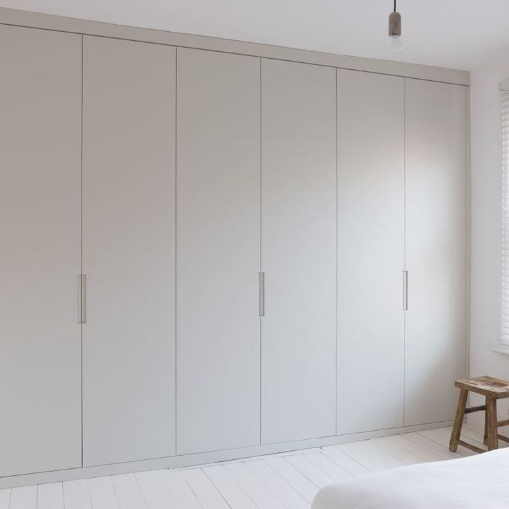 Floor to ceiling fitted wardrobe